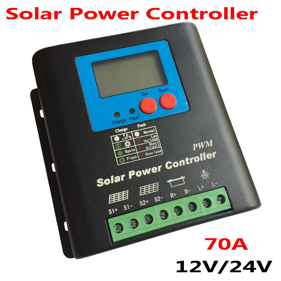 70A 80A 90A 100A Solar Controller PWM Solar Charge Controller for 12V 24V AUTO PV System Solar Regulator solar power controller 45a pwm solar panel controller solar charge controller regulator 12v 24v battery charging for 1kw solar system