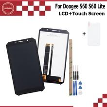 """Ocolor para doogee s60 s60 lite display lcd + montagem da tela de toque parte reparo 5.2 """"acessórios do telefone móvel ferramentas filme"""