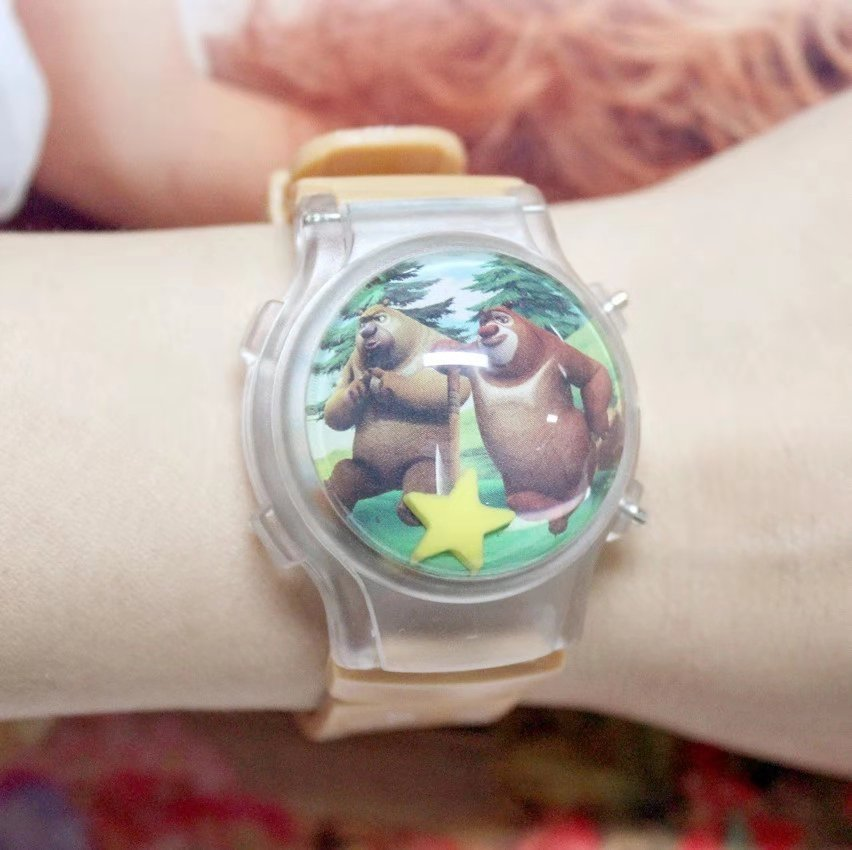 Watches Cartoon Bear Childrens Electronic Watch Flash Lamp Watch Bald Head Strong Led Water Ball Flip Light Watch To Win Warm Praise From Customers