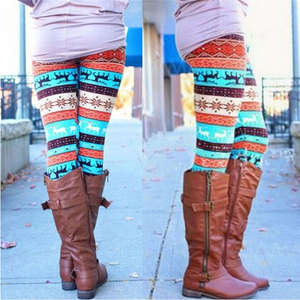JCAAAP 1pc Women Knit Leggins Printed Casual Slim Legging 878bb13e9e6