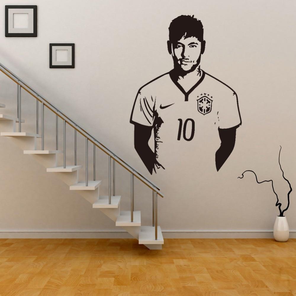 Genial Neymar Junior Soccer Wall Sticker Sports Football Player Wall Decal For  Boys Room Decor Barcelona Poster Barca Wallpaper In Wall Stickers From Home  U0026 Garden ...