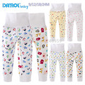 Danrol brand2015baby ropa ropa bebé pantalones infantiles de dibujos animados pantalones 100% algodón de Alta Cintura del muchacho del bebé pants9-24M