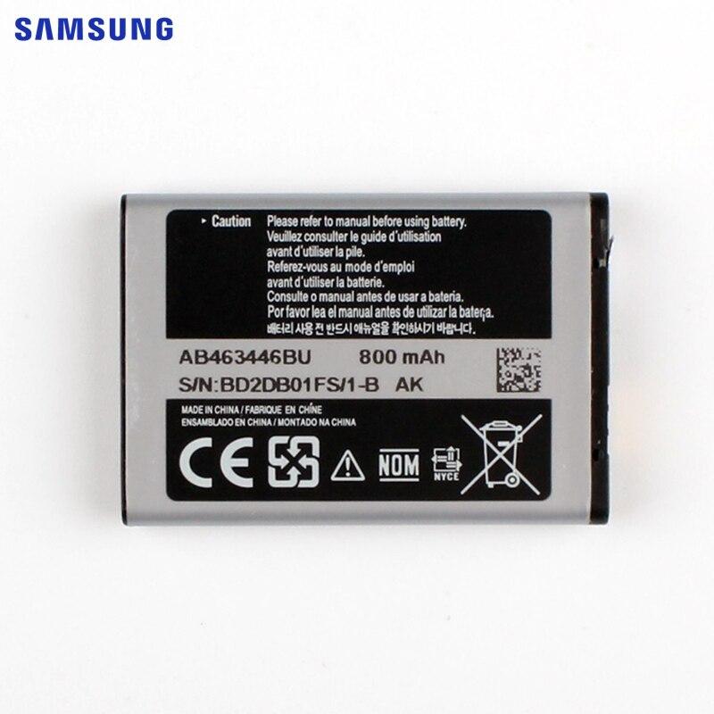 SAMSUNG Batterie De Rechange D'origine AB463446BU Pour Samsung S139 M628 X520 F258 E878 E1200M E1228 Authentique Téléphone Batterie 800 mAh