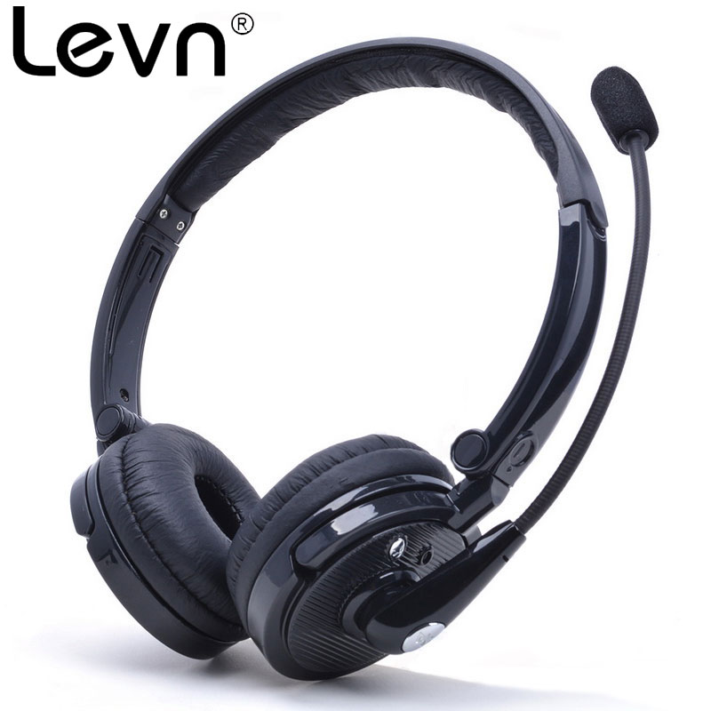 Levn Bluetooth Headphone Over-Ear Deep Bass Stereo Headset with Boom Mic CVC6.0 Noise Cancelling Gaming Earphone for Phone Free bingle b 910 b910 b910 m noise cancelling deep bass over ear stereo hifi dj hd studio music 3 5mm 6 3mm wired earphone headphone