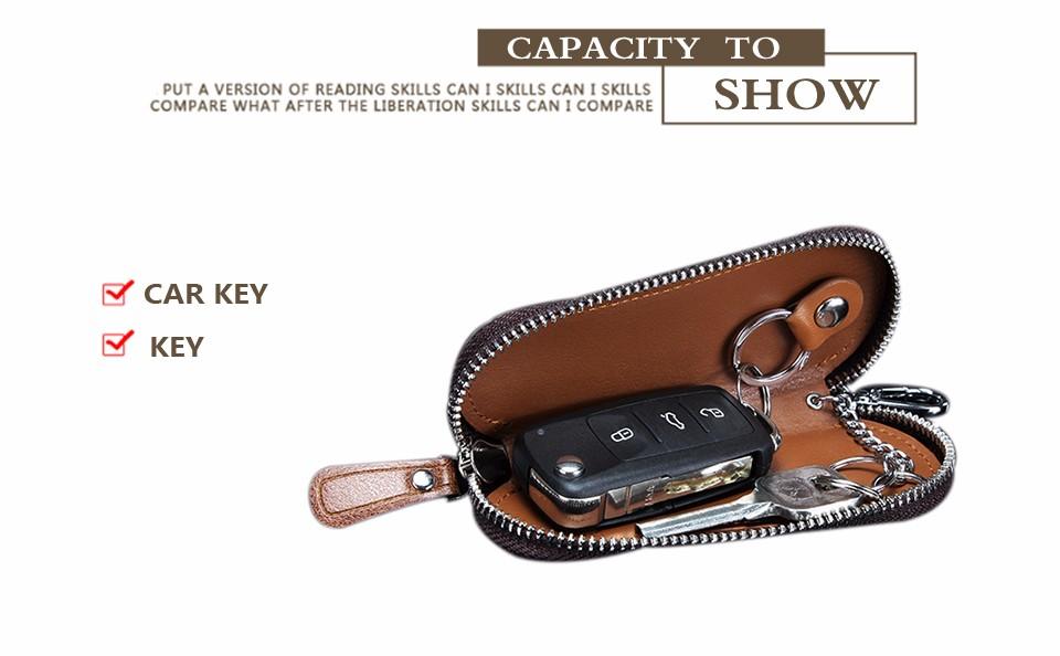 محفظة مفاتيح للرجال من الجلد الطبيعي 20