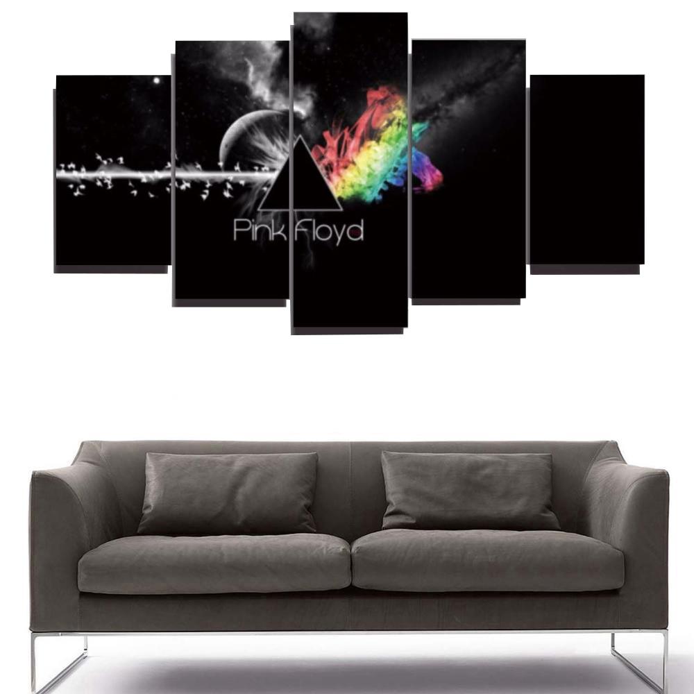 ᓂ5 unidades panel impreso Pink Floyd rock music lienzo para el arte ...