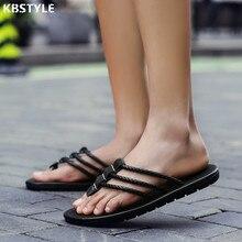 Mens Zapatillas de Cuero De Diseño Flip-Flop Sandalias de Los Hombres Zapatos De Moda Casual Zapatos de la Playa Del Verano Chinelo masculino Flip Flop