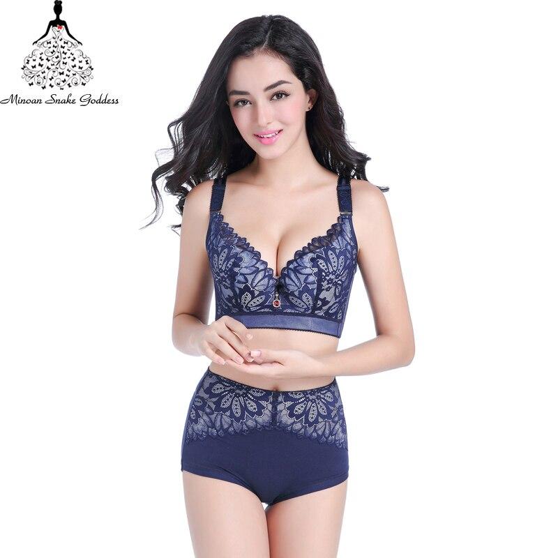 b190975929c Lace Brassiere Set Push Up Plus Size Women Underwear DE Cup Bra And Briefs  Set 38