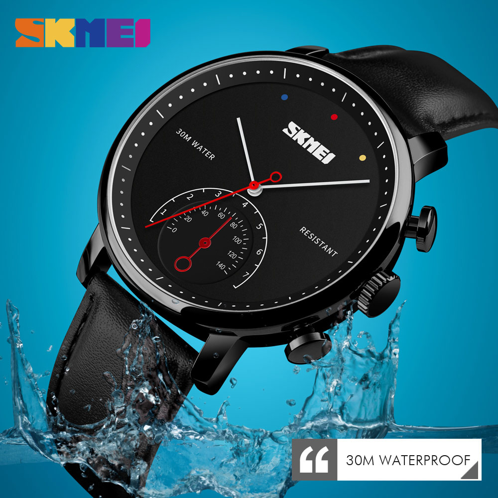 2019 New Luxury Watches Men Watch Leather Fashion Watches Alloy Waterproof Quartz Wristwatches Man Clock Relogio Masculino <font><b>SKMEI</b></font> image