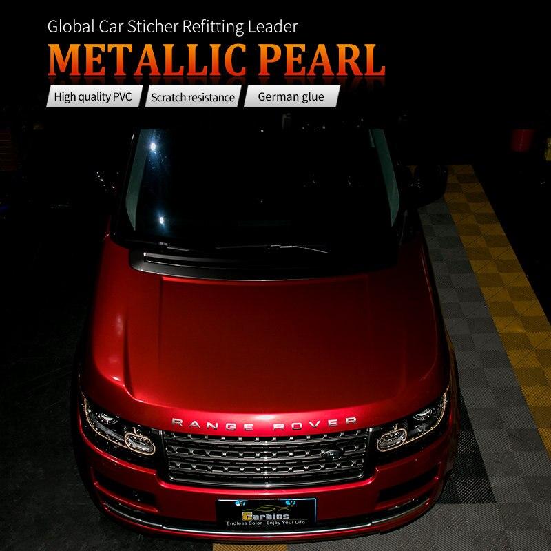 CARBINS пленка металлик жемчуг конфеты красный цвета Флит графическая виниловая упаковка для супер спортивных автомобилей