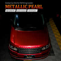 CARBINS Film Metallic Pearl Candy Red Colors Fleet Graphic Vinyl Wrapping for Super Sport Cars