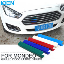 Autocollant de voiture LOEN grilles de course coller3d M style voiture calandre garniture Sport bandes couverture Sport automobile puissance Performance autocollant(China)