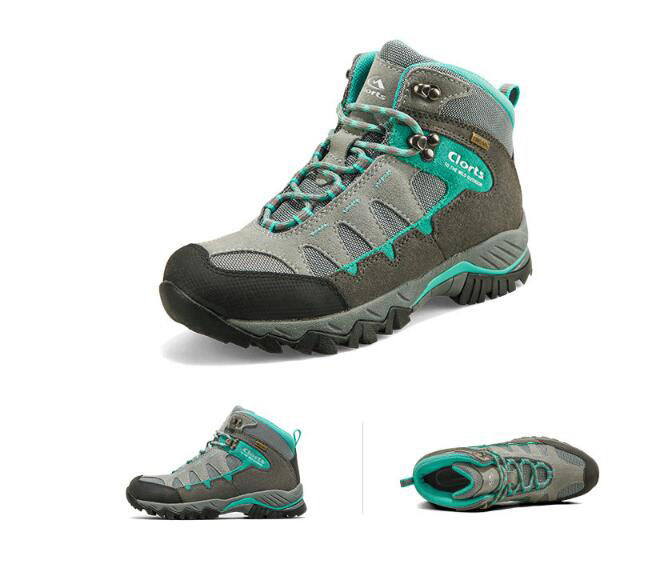 Women outdoor walking shoes ladies genuine leather waterproof breathable walking boots trekking climbing travel sneakers CLORTS