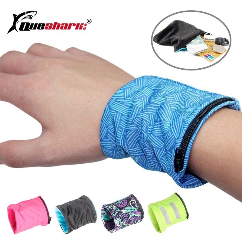 Reflective Zipper Pocket Sport Wristband Cycling Running Wrist Wallet Coin Keys Storage Bag Wrist Support Wrap Strap Brace Pouch sticker