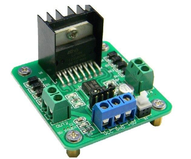 Freeshipping smart car stepper motor L298N motor driver module 2pcs/lot tengying l298n motor driver board for raspberry pi red