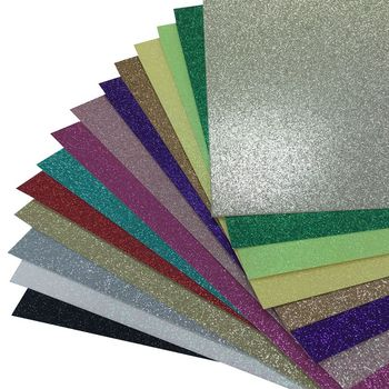 10pcs one bag Christmas and Party Decorations Glitter Paper, DIY craft paper 300gsm Glitter Cardstock Paper