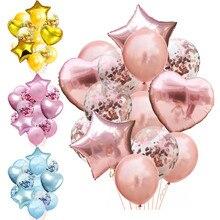 14 pçs 12 polegada látex 18 polegada multi balões de ar feliz aniversário hélio balão decorações festa de casamento festival balon suprimentos