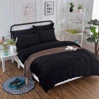 Soft Solid Colors Anti Static Velvet Black Bedding Set With Conductive Fibers Luxury Duvet Cover Sets
