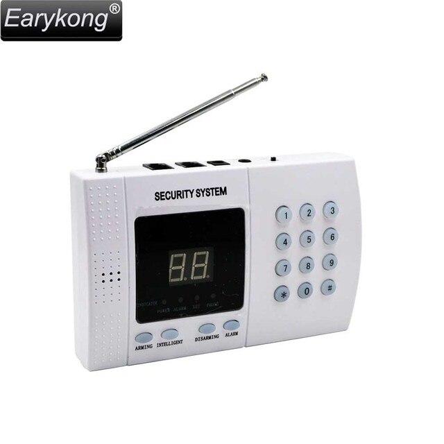 Best Price Free shipping pstn alarm system With 100 Wireless Sensor to Transmission Freqency 433mhz White Wireless Home Security Alarm