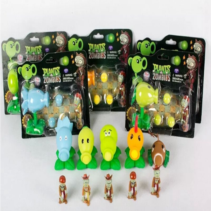 New 10CM kids toys PVZ Plants vs Zombies Peashooter PVC Action Figure Model Toy Plants Vs Zombies Toys For Baby Gift new 10cm kids toys pvz plants vs zombies peashooter pvc action figure model toy plants vs zombies toys for baby gift