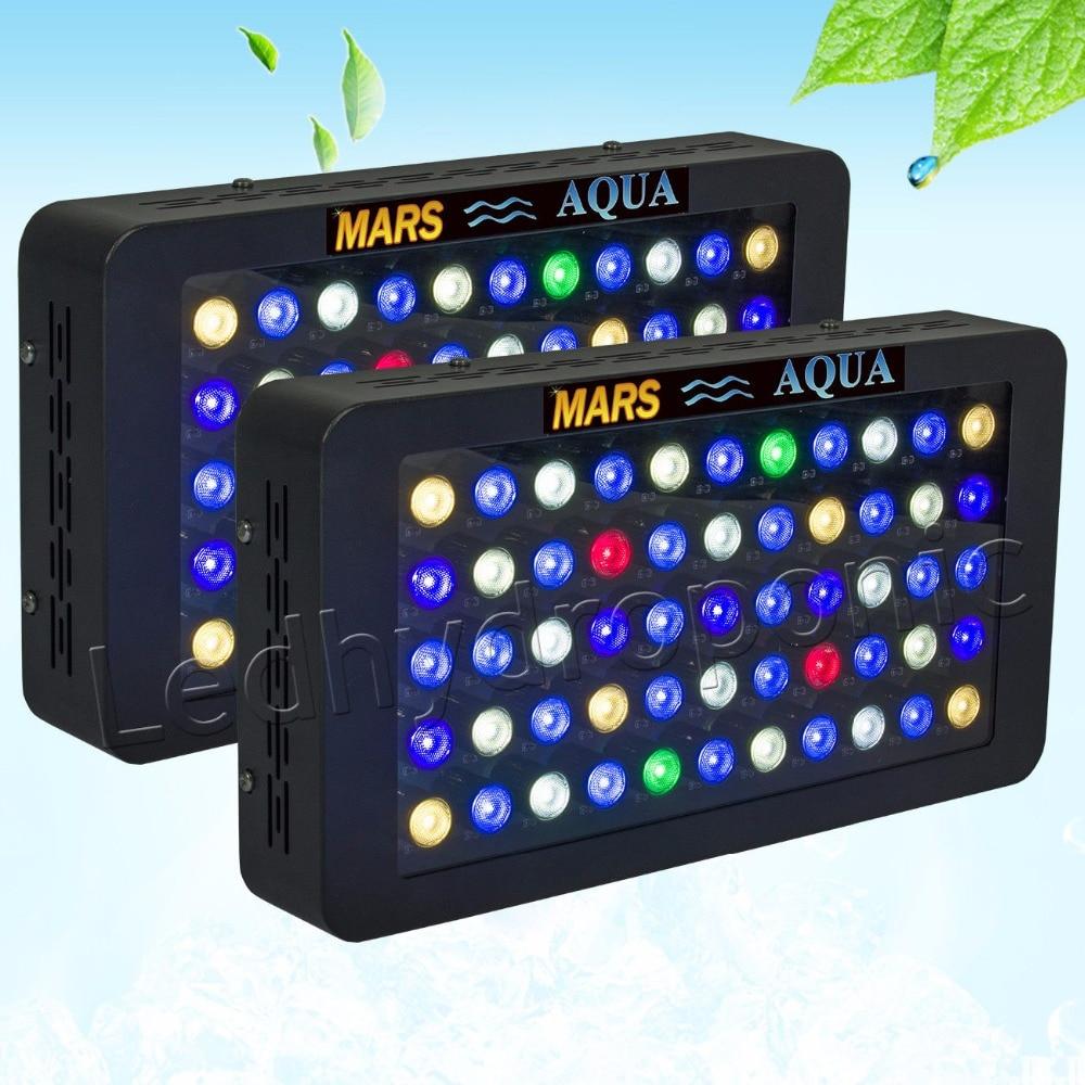 2pcs Mars Aqua 165W Dimmable Led Aquarium Lights for Coral Reef,Full Spectrum Aquarium Led Lighting