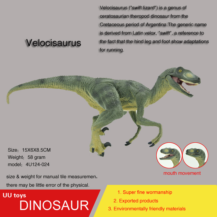Hot toys green Velocisaurus high Simulation model Jurassic dinosaur toys action figure Gift toys for children new hot 17cm avengers thor action figure toys collection christmas gift doll with box j h a c g