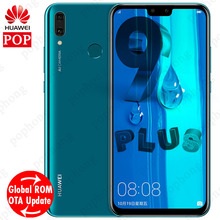 Küresel ROM Huawei Y9 2019 Zevk 9 artı Smartphone 6.5 ''2340x1080 Hisilicon Kirin 710 Octa Çekirdek Android 8.1 4000 mAh 4 * kam...