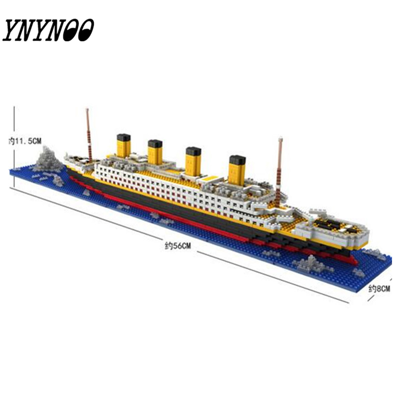 YNYNOO LOZ The Titanic DIY Assemble Building Blocks Model Classical Toys Gift for Children