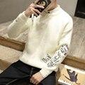 2016 hombres del o-cuello de la cachemira suéter de lana mezcla suéter suéteres para hombre macho cuello redondo de punto suéteres suéter de lana