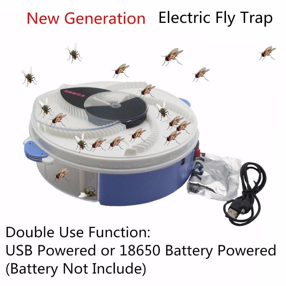 USB eléctrico tipo volar trampa con cebo de Control de plagas eléctrica anti volar asesino trampa plagas Catcher bichos repelentes de insectos vliegenvan