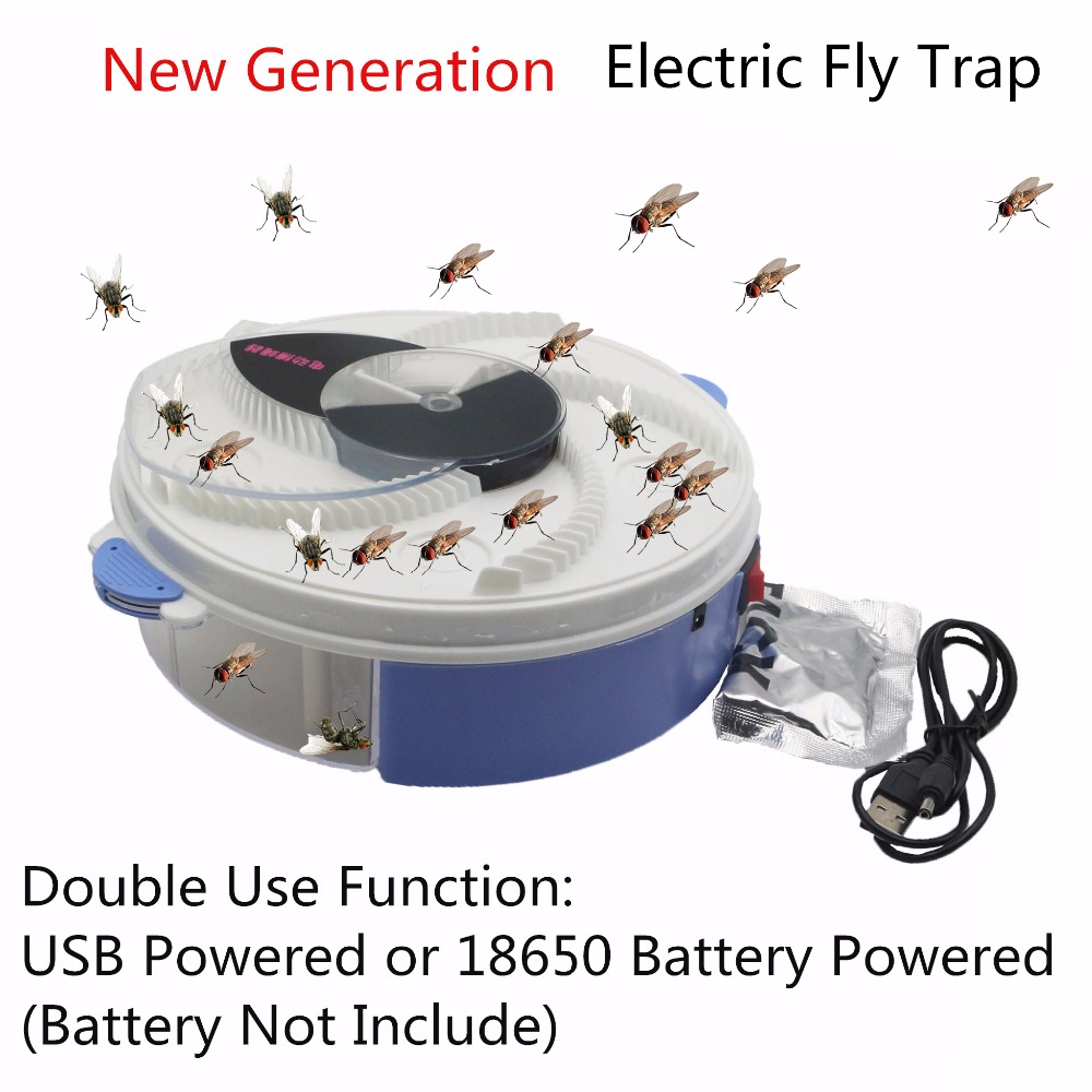 USB type Electric Fly Trap with bait Pest Control Electric anti Fly Killer Trap Pest Catcher Bug Insect Repellents vliegenvan