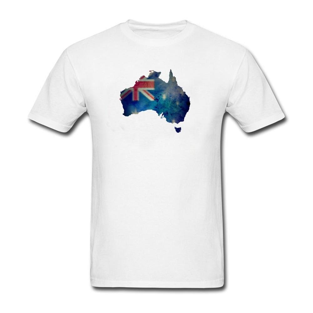 Design your own t-shirt in australia - Australia Map Flag Men Design Your Own Tee Tops Short Sleeve O Neck Organic Cotton Hot