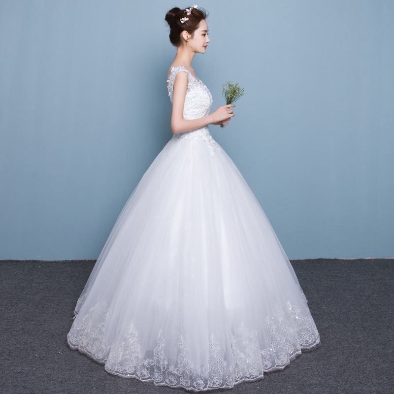 Popodion Wedding Dress Lace Plus Size Simple Wedding Gowns For Bride Bride Dress Vestido De Noiva Wed90453 In Wedding Dresses From Weddings Events