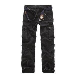 Image 4 - Mountainskin 男性の軍事マルチポケットパンツ屋外戦術的な緩いズボンハイキングキャンプ釣りクライミングブランド VA271