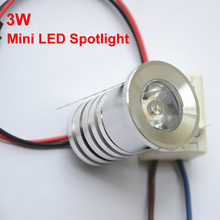Светодиодный точечный мини-светильник 3 Вт с регулируемой яркостью светодиодный светильник 3000 К 4000 к ювелирный шкаф лампа точечный светодиодный потолочный 110 В 220 В красный синий зеленый