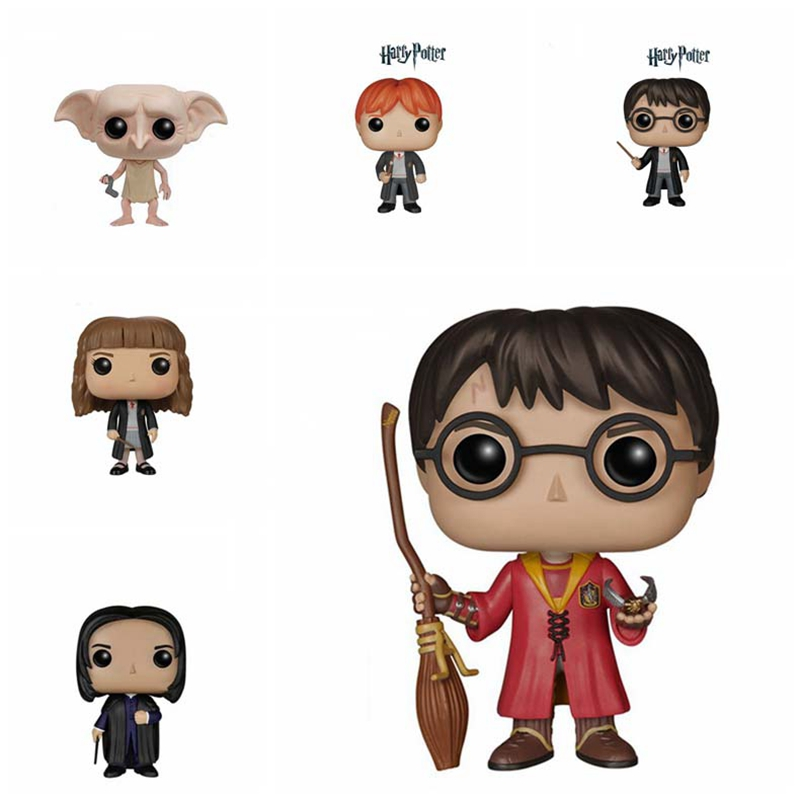 The Harry Potter Dobby Hermione Ron Dumbledore Toy Quidditch Magic Hat Harry Poter POP Action Figures Doll For Kids Gifts