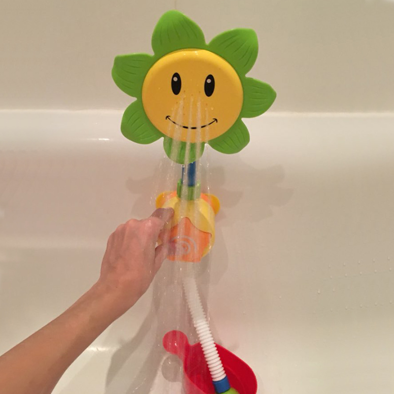Cartoon Baby Bath Toys Sunflower Spray Water Shower Faucet Kids Bath Toy With Box Bathroom Toys For Children Water Game Playing