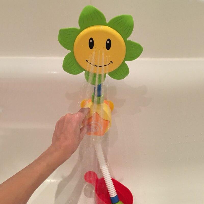 Детские Для ванной Игрушечные лошадки дети подсолнечника брызг воды смеситель для душа дети Игрушки для ванной с коробкой Ванная комната И... ...