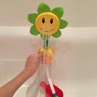 아기 목욕 장난감 어린이 해바라기 스프레이 물 샤워 수도꼭지 아이 목욕 장난감 상자 욕실 장난감 임의의 색상