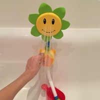 Brinquedos de banho do bebê dos desenhos animados girassol spray torneira do chuveiro de água crianças brinquedo banho com caixa do banheiro brinquedos para crianças jogo água jogando
