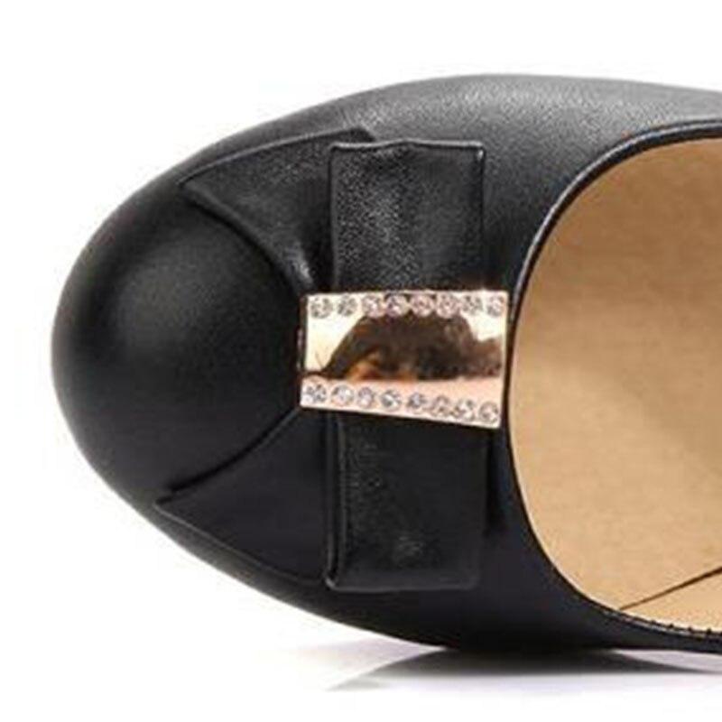 Chaussures Profonde Beige Taille Bowknot Sur 43 Glissement Épais Pompes Cristal Jour noir Taoffen Talons 33 Dames Femmes Haute Talon Peu rose bleu Partie Par XAx6q