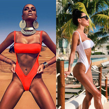 Women's Sexy ONE Piece Of Swimsuit Solid Bikini Swimwear Bathing Beachwear biquinis Fashion ups 2018 feminino tankinis mujer#070