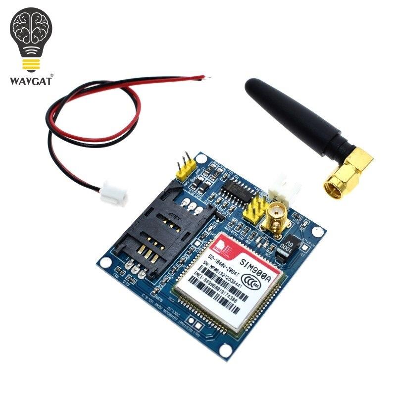 WAVGAT SIM900A SIM900 MINI V4.0 Kit Placa do Módulo GSM GPRS de Transmissão de Dados Sem Fio w/Antena C83