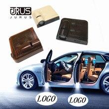 JURUS 2X светодиодный надверный фонарь с логотипом приветственные огни для Nissan для Suzuki для Chrysler для Saab аксессуары лазерный проектор лампа