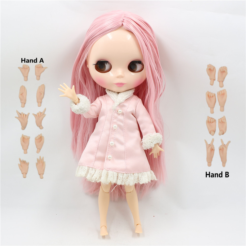 Toy Gift Free shipping 30cm 1 6 Factory Blyth Doll nude doll 230BL6122 Pink straight hair