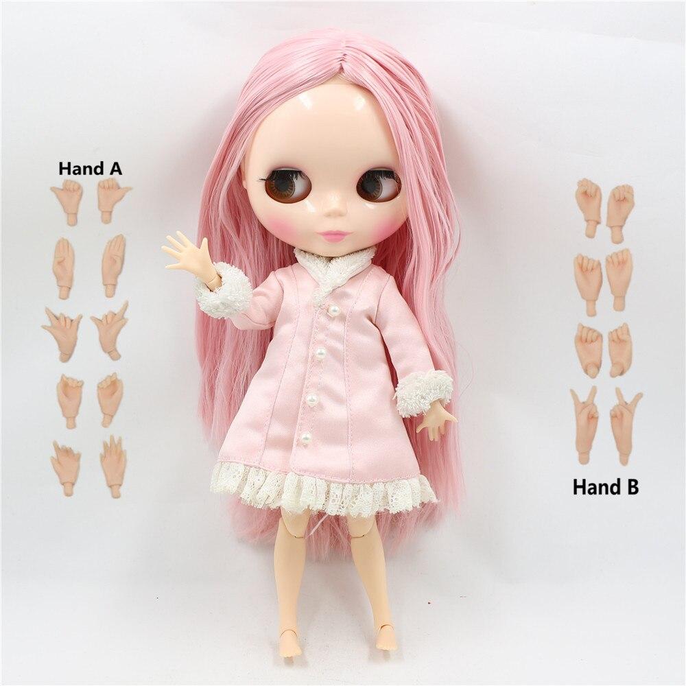 Spielzeug Geschenk Freies verschiffen 30cm 1/6 Fabrik Blyth Puppe nude puppe 230BL6122 Rosa gerade haar mitte partting JOINT körper neo bjd-in Puppen aus Spielzeug und Hobbys bei  Gruppe 1