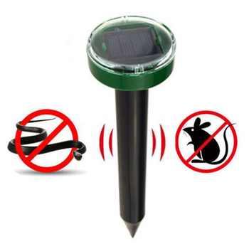 Outdoor Solar Powered Ultrasonic Mice Repeller Pest Mosquito Cockroach Repellent Mole Vole Snake Killer Trap Control Garden Yard - DISCOUNT ITEM  36% OFF Home & Garden