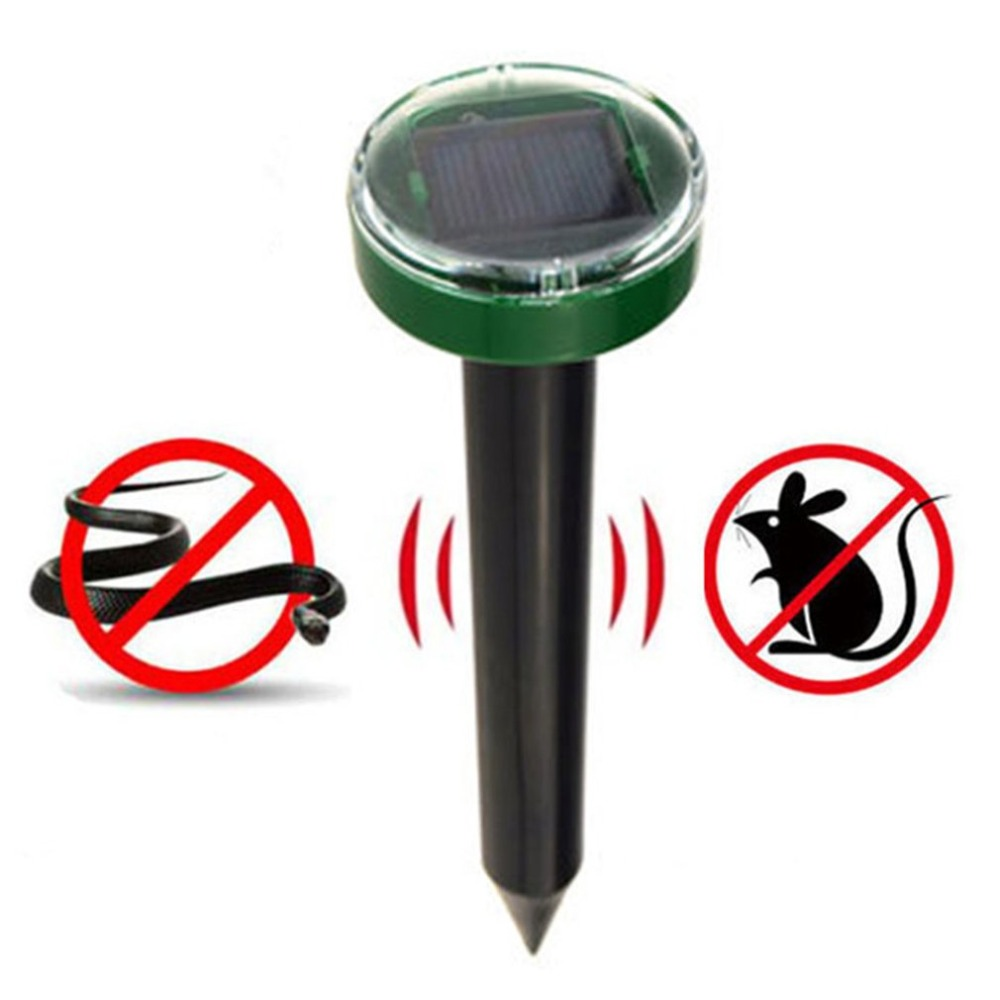 Outdoor Solar Powered Ultrasonic Mice Repeller Pest Mosquito Cockroach Repellent Mole Vole Snake Killer Trap Control Garden Yard