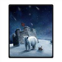 Custom Polar Bear Fleece Blanket 127cm X 152cm