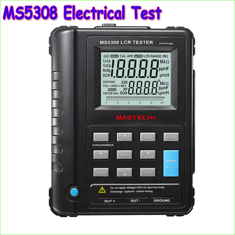 1pcs Mastech MS5308 LCR Meter Portable Handheld Auto Range LCR Meter High Performance 100Khz